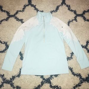 Lilly Pulitzer Skipper Popover Light Blue Lace